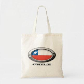 Bandera de Chile en el marco de acero Bolsa Tela Barata
