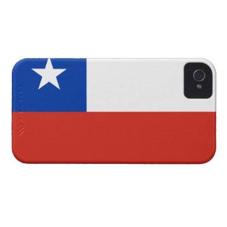 Bandera de Chile Case-Mate iPhone 4 Carcasas