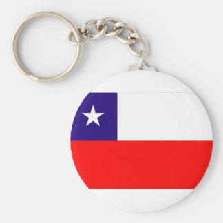 BANDERA DE CHILE LLAVERO REDONDO TIPO PIN
