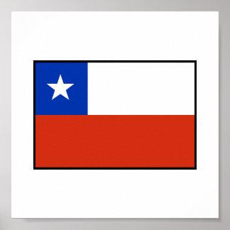 Bandera de Chile Posters