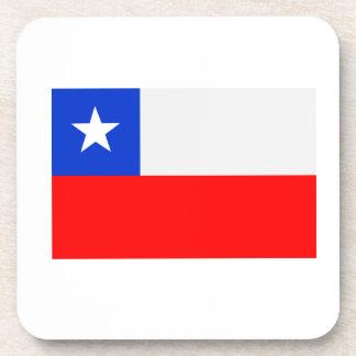 Bandera de Chile Posavasos De Bebidas