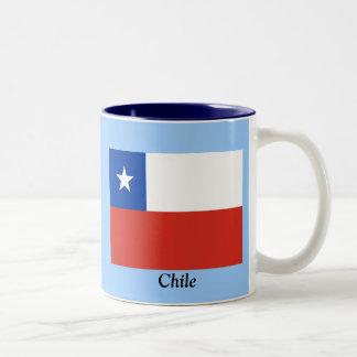 Bandera de Chile Taza Dos Tonos