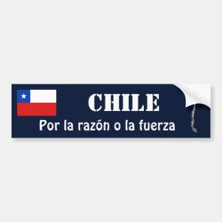 Bandera de Chile y pegatina para el parachoques de Etiqueta De Parachoque