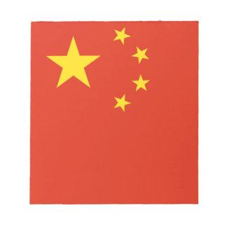 Bandera de China. Adorno chino. Detalle Bloc De Notas