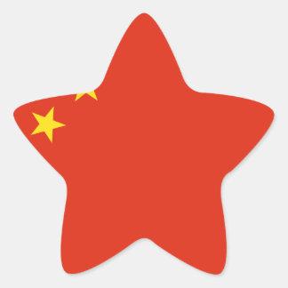 Bandera de China. Adorno chino. Detalle Pegatina En Forma De Estrella