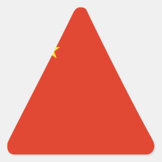 Bandera de China. Adorno chino. Detalle Pegatina Triangular