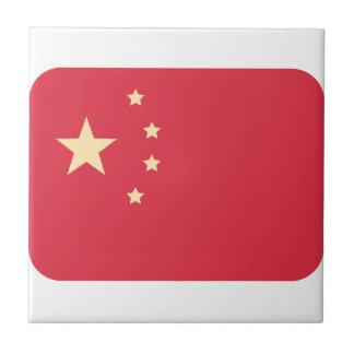 Bandera de China - gorjeo de Emoji Azulejo Cuadrado Pequeño