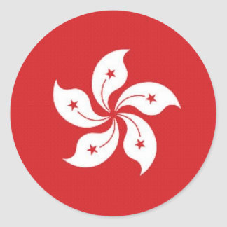 Bandera de China Hong Kong Pegatina Redonda