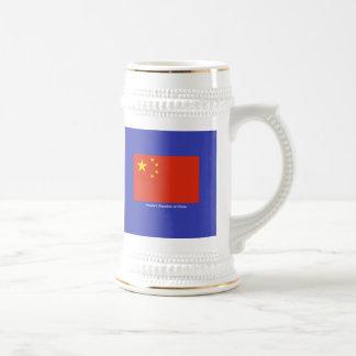 Bandera de China Jarra De Cerveza