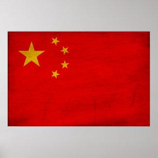 Bandera de China Poster