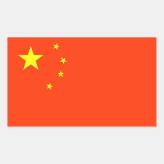 Bandera de China Pegatina Rectangular