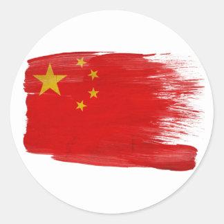 Bandera de China Pegatina Redonda