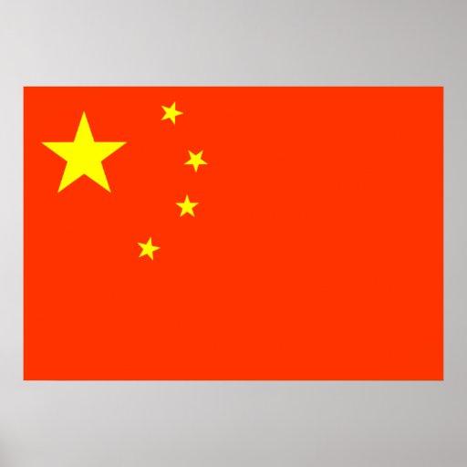 Bandera de China Posters