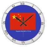 Bandera de China Reloj De Pared