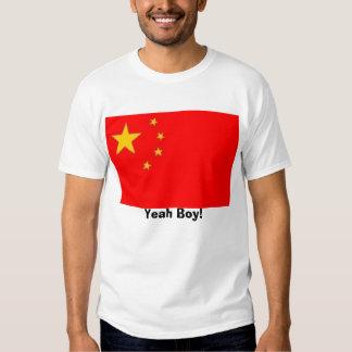 ¡Bandera de China, sí muchacho! Remeras