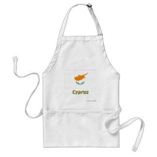 Bandera de Chipre con nombre Delantal