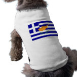 Bandera de Chipre del Griego Ropa De Mascota