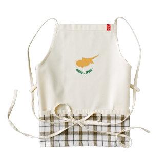 Bandera de Chipre Delantal Zazzle HEART