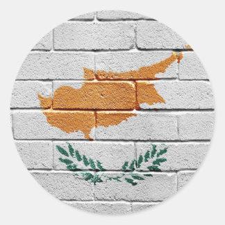 Bandera de Chipre Etiqueta Redonda