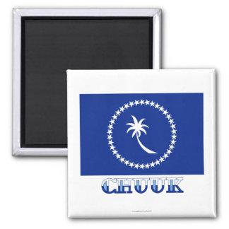 Bandera de Chuuk, con nombre Imán De Frigorífico