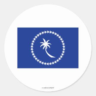 Bandera de Chuuk Pegatinas Redondas