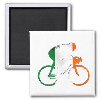 Bandera de ciclo irlandesa de Eire del engranaje d Imán Cuadrado