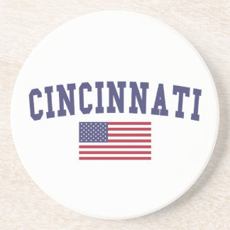Bandera de Cincinnati los E.E.U.U. Posavasos Cerveza