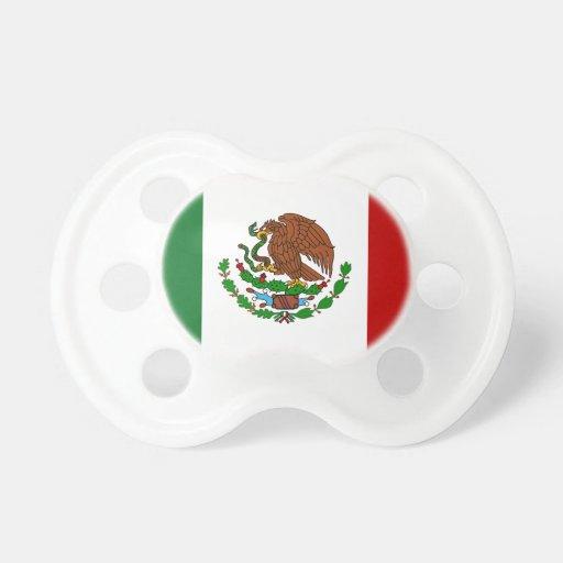 Bandera de Cinco de Mayo de México Chupete De Bebe