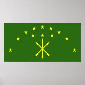 Bandera de Circassia Impresiones