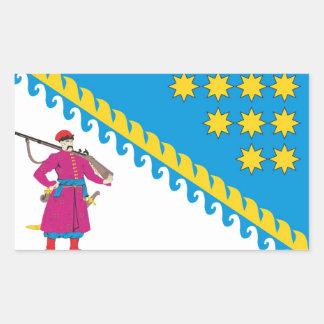 Bandera de COA de Dnipropetrovsk Oblast, Ucrania Rectangular Altavoz