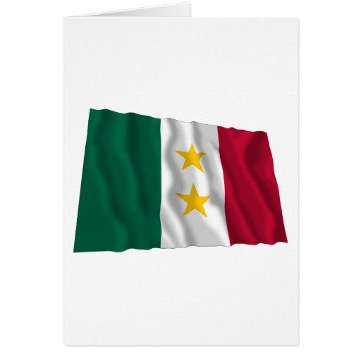 Bandera de Coahuila y Tejas Felicitación
