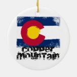 Bandera de cobre del Grunge de la montaña Ornamentos Para Reyes Magos