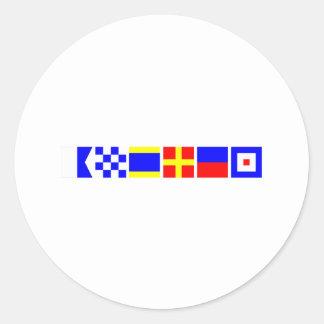 Bandera de código Andrew Pegatina Redonda