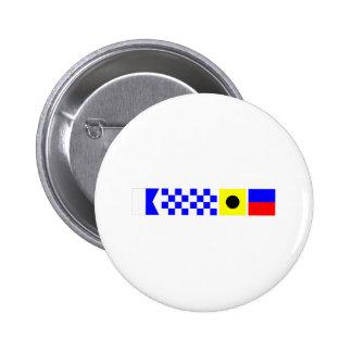 Bandera de código Annie Pin Redondo De 2 Pulgadas
