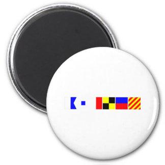 Bandera de código Ashley Imán Redondo 5 Cm