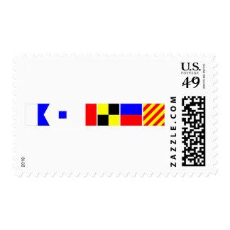 Bandera de código Ashley Sellos Postales