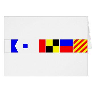 Bandera de código Ashley Tarjeta De Felicitación
