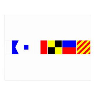 Bandera de código Ashley Tarjetas Postales