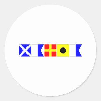 Bandera de código Maria Etiqueta