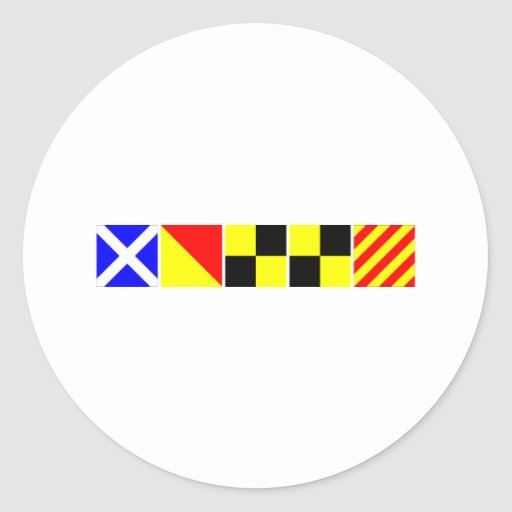 Bandera de código Molly Pegatina Redonda
