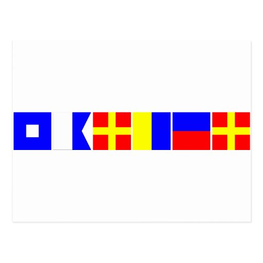 Bandera de código Parker Tarjetas Postales