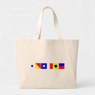 Bandera de código Sophie Bolsa De Tela Grande