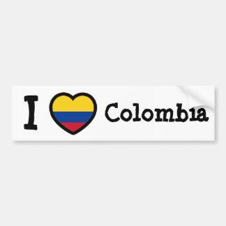Bandera de Colombia Etiqueta De Parachoque
