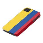 Bandera de Colombia iPhone 4 Case-Mate Cárcasa