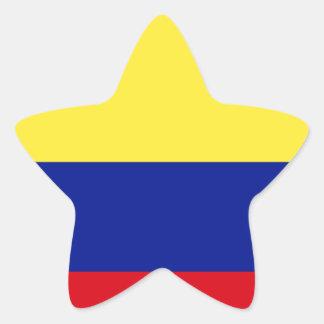 Bandera de Colombia Calcomanias Forma De Estrella