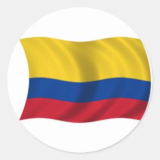 Bandera de Colombia Pegatinas Redondas
