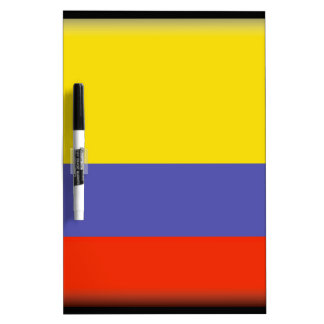 Bandera de Colombia Tableros Blancos