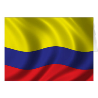 Bandera de Colombia Tarjeta