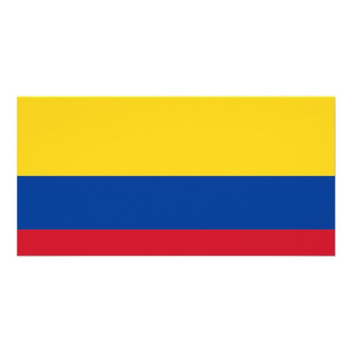 Bandera de Colombia Tarjetas Fotográficas