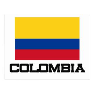 Bandera de Colombia Tarjetas Postales